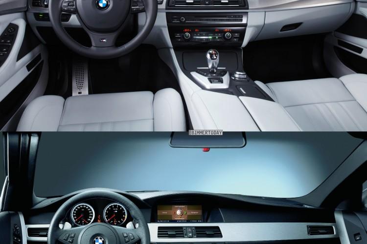 Bildvergleich BMW M5 F10 M5 E60 Interieur 750x500