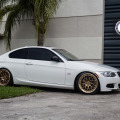 Classic Looking Alpine White BMW 335is With HRE Wheels