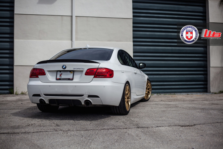 Classic Looking Alpine White BMW 335is With HRE Wheels 4 750x500