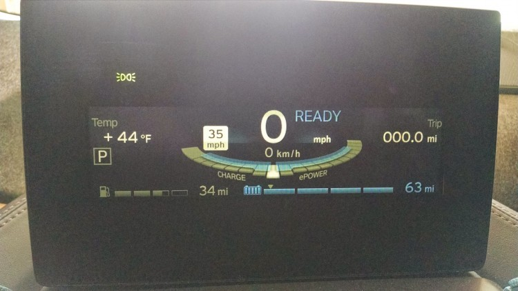 With temperatures in the 40's, I was averaging 60 to 65 miles of range per charge.