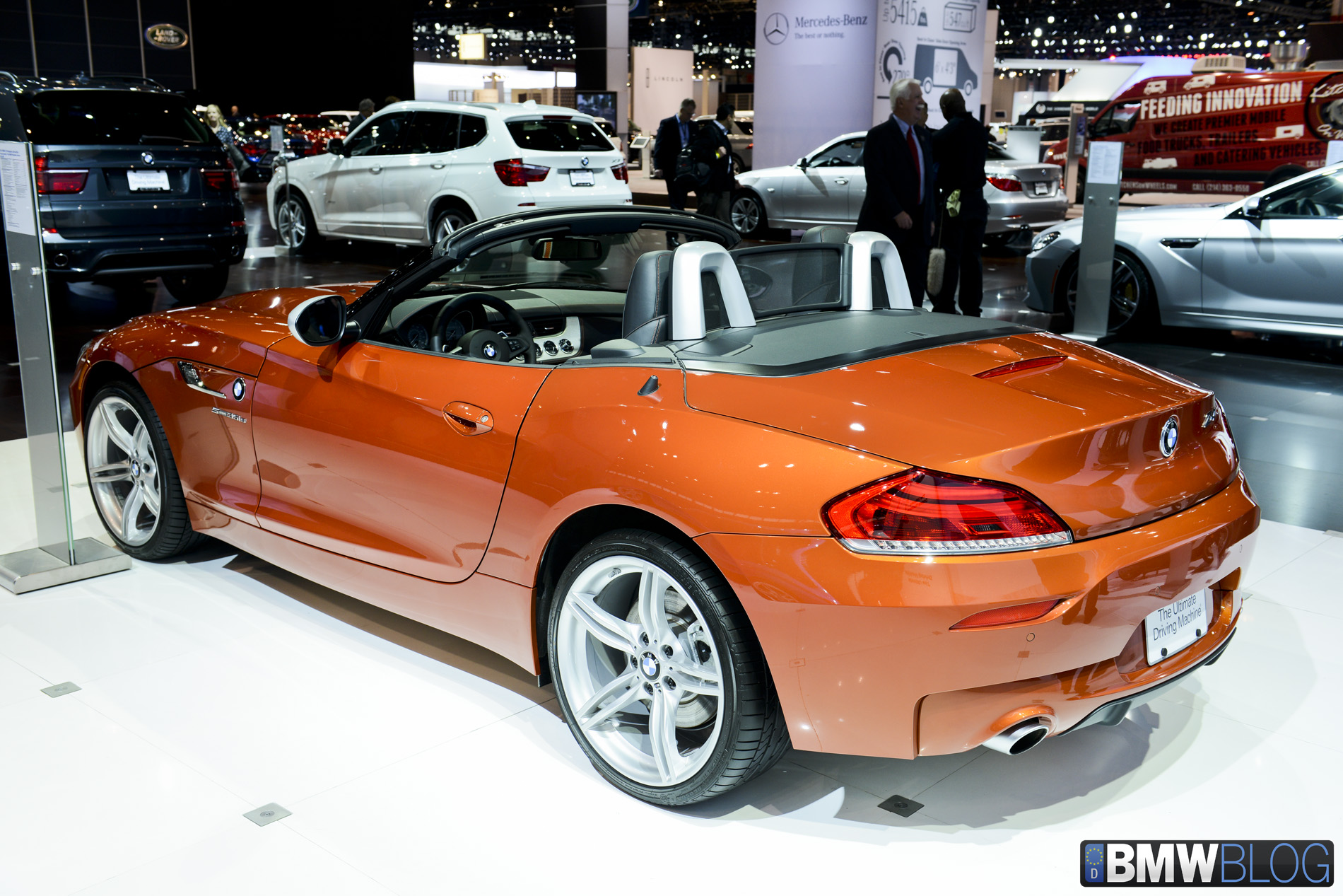 2013 Chicago Auto Show Bmw Z4 Facelift In Valencia Orange