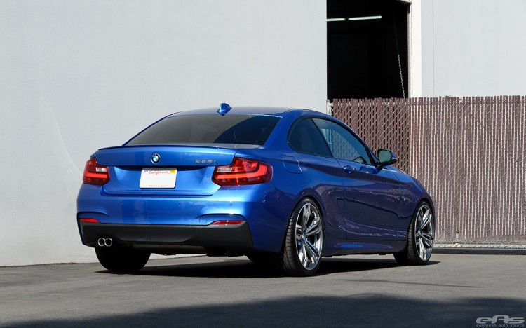 Estoril Blue 228i Lowered On HR Sport Springs 12 750x468