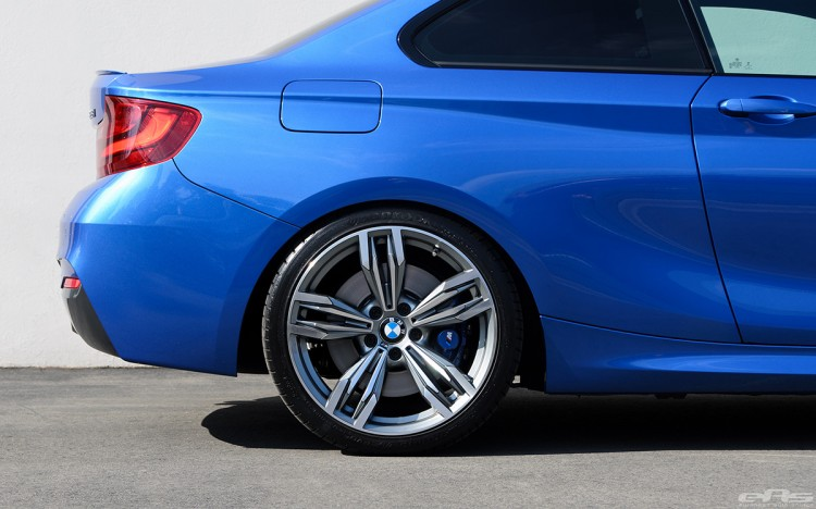 Estoril Blue 228i Lowered On H&R Sport Springs