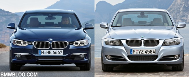 F30 vs e90 3 series comparison 655x268