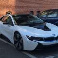 Live Fotos BMW i8 Crystal White Akzente i blau ungetarnt Leipzig 01 120x120