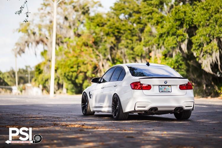 Alpine White BMW M3 Sedan With Carbon Fiber Goodies Installed