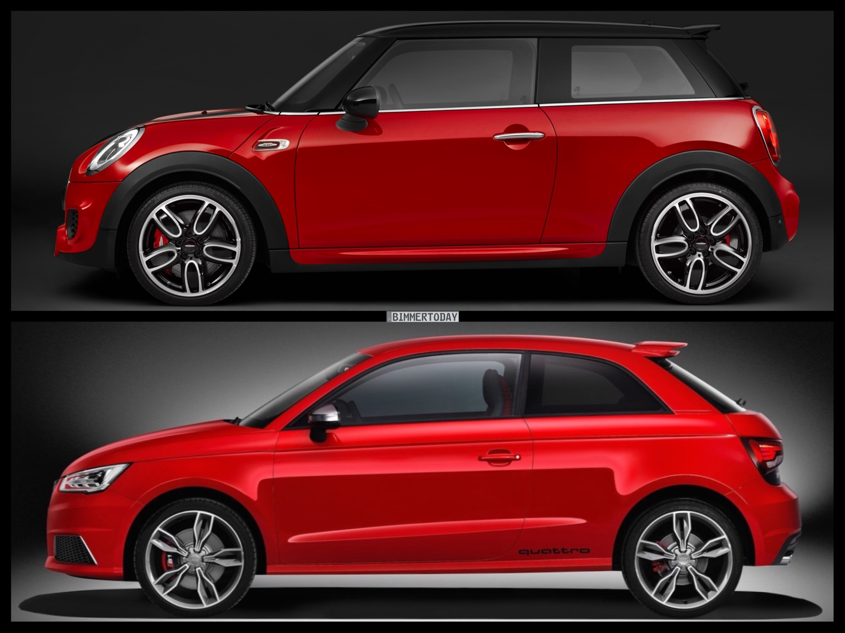 Photo Comparison Mini John Cooper Works F56 Meets Audi S1
