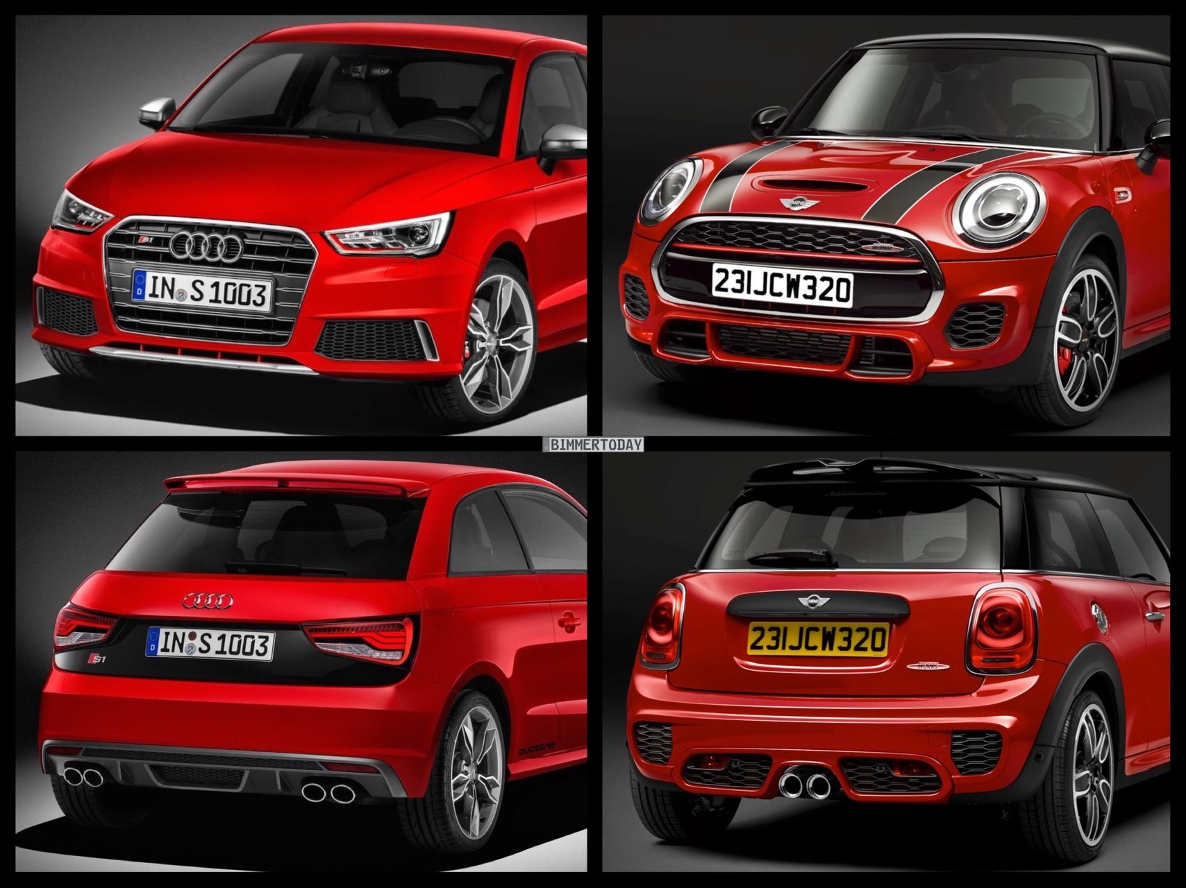 MINI John Cooper Works 2015 Audi S1 2015 Bild Vergleich 04