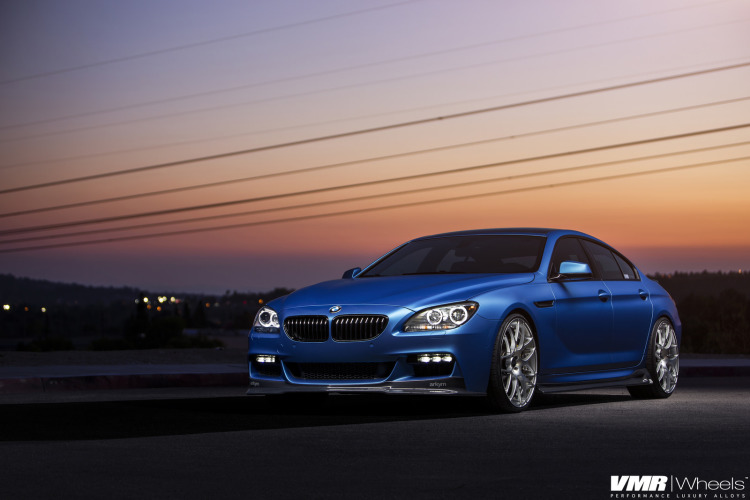 Matte Blue BMW 6 Series Gran Coupe On VMR Wheels 1 750x500