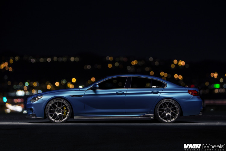 Matte Blue BMW 6 Series Gran Coupe On VMR Wheels 2 750x500