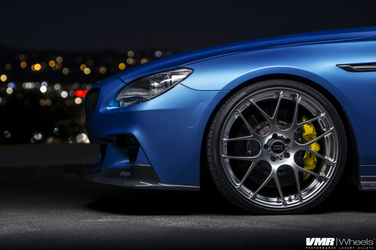 Matte Blue BMW 6 Series Gran Coupe On VMR Wheels