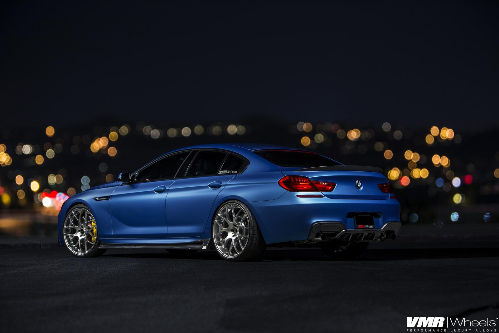 Matte Blue Bmw 6 Series Gran Coupe On Vmr Wheels