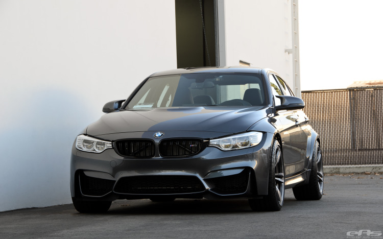 Mineral Gray BMW F80 M3 With Spacers Installed 1 750x468