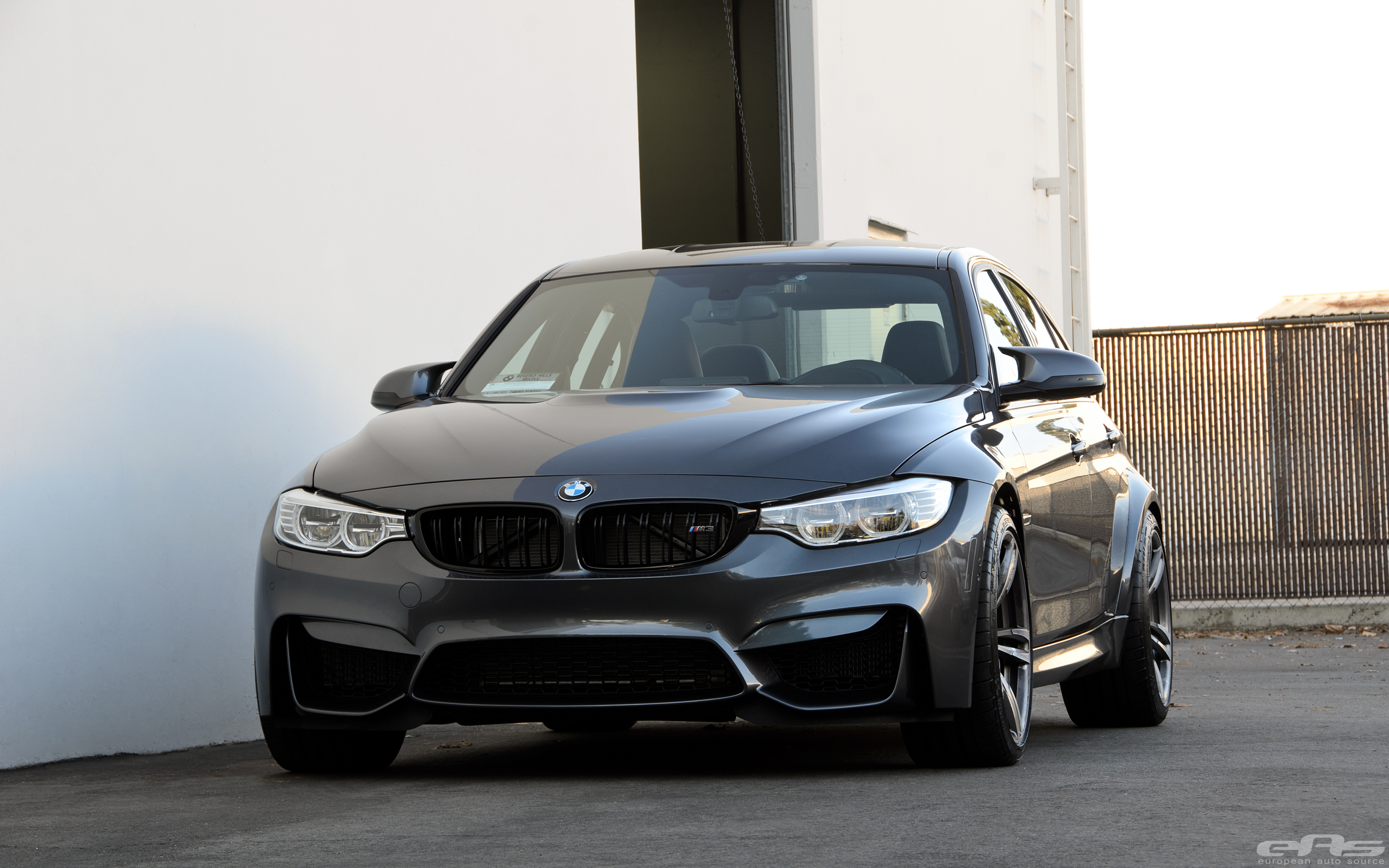 Mineral Gray Bmw F80 M3 With Spacers Installed