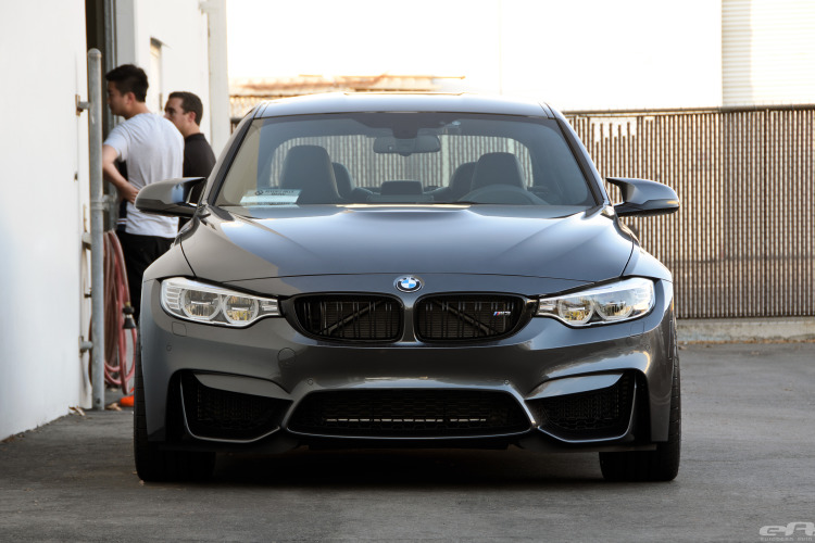 Mineral Gray BMW F80 M3 With Spacers Installed 2 750x500