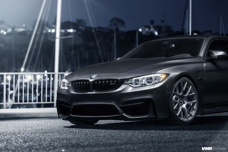 Mineral Gray BMW M4 With VMR Wheels 2 750x500
