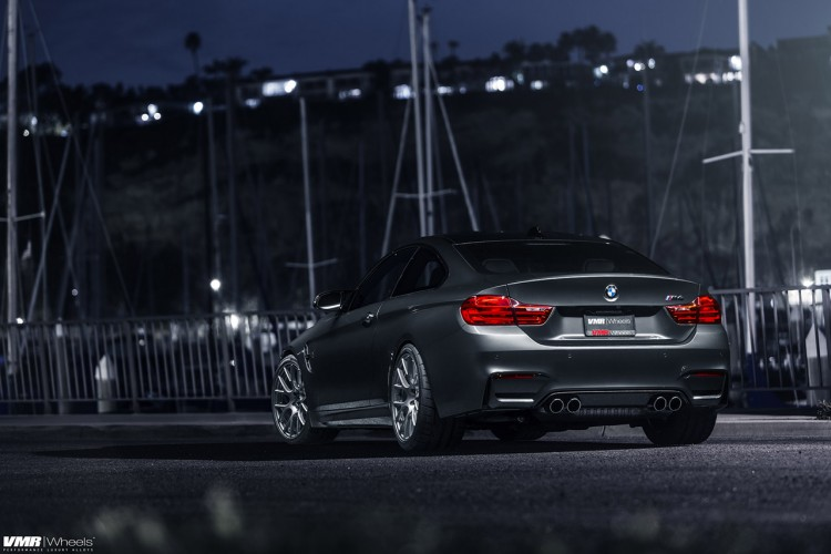 Mineral Gray BMW M4 With VMR Wheels 5 750x500