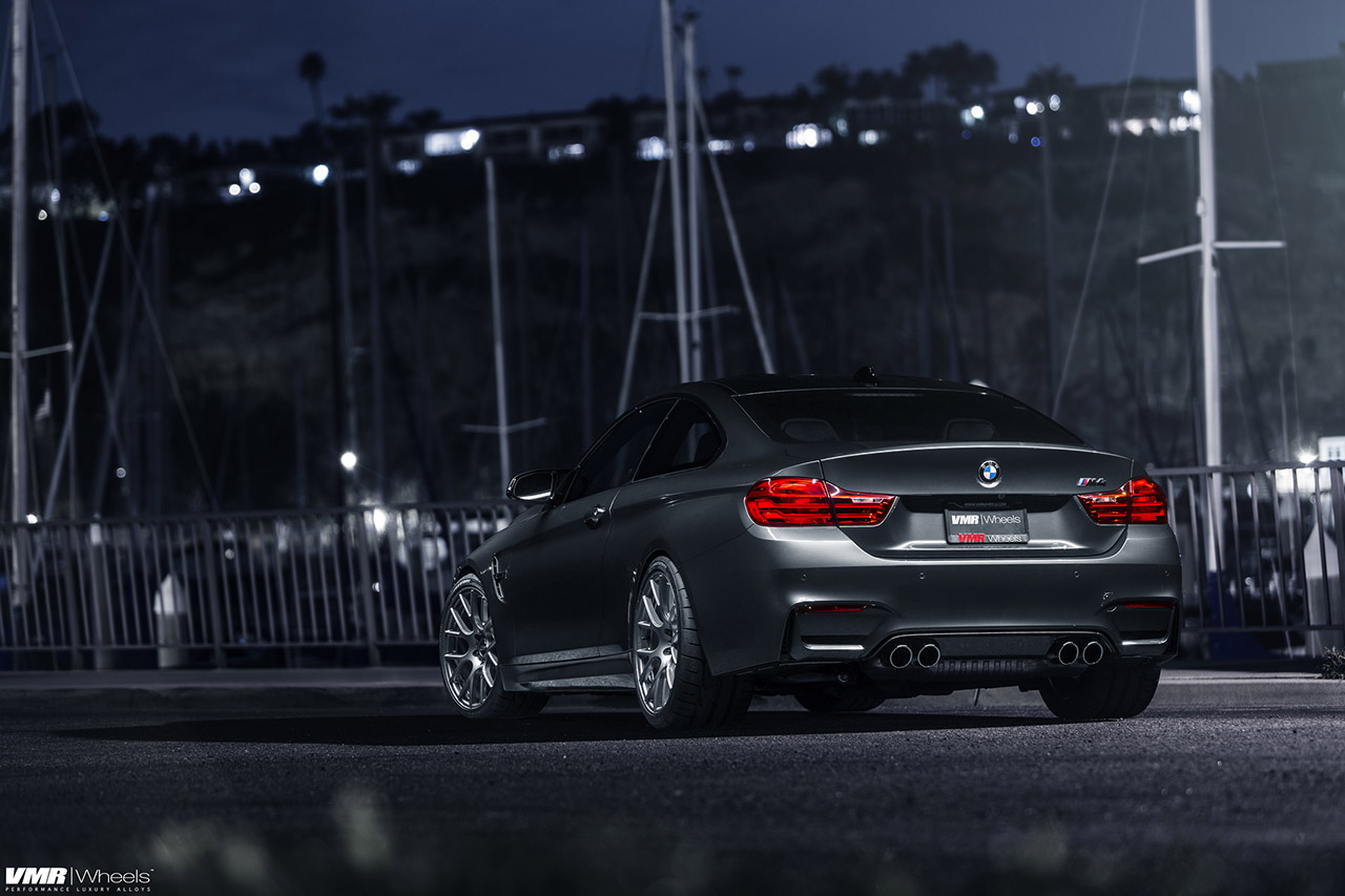 Mineral Gray BMW M4 With VMR Wheels 5