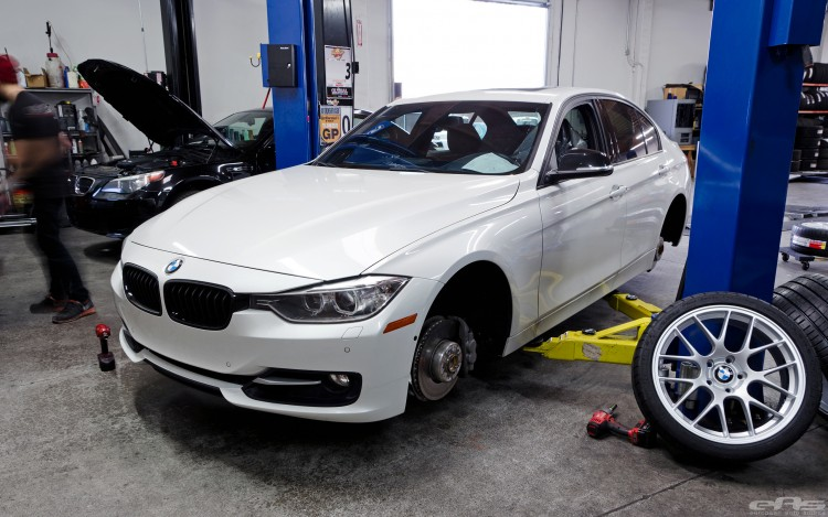 Mineral White BMW F30 3 Series Gets A Set Of Wheels 1 750x469