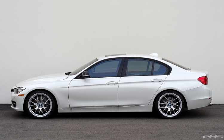 Mineral White BMW F30 3 Series Gets A Set Of Wheels 4 750x469