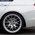 Mineral White BMW F30 3 Series Gets A Set Of Wheels