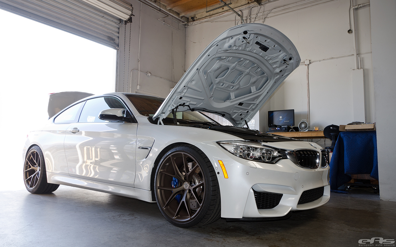 Mineral White Bmw M4 With Hre Wheels