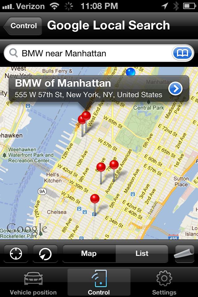 My+BMW+Remote+Google Local Search