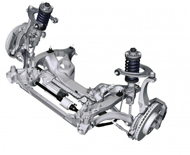 BMW 5 Series Sedan, Double wishbone front axle