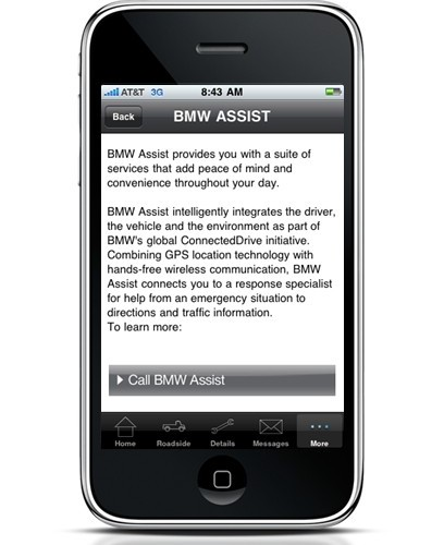 Available Now: BMW Roadside Assistance Smartphone Application