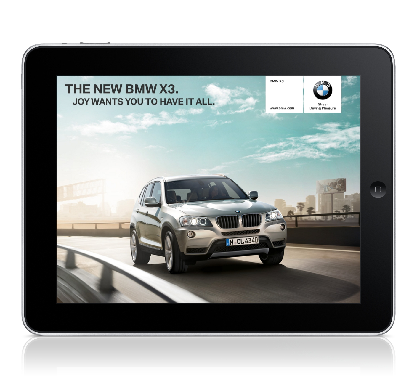 The New BMW X3 On The IPad