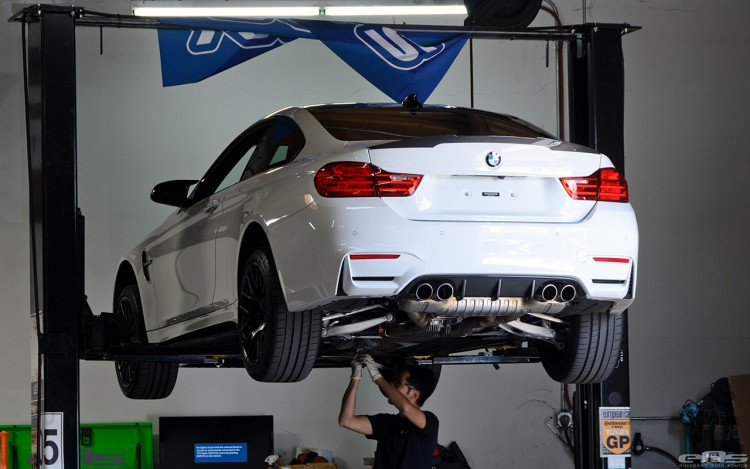 Remus Exhaust System Installed On An Alpine White M4 Image 1 750x469