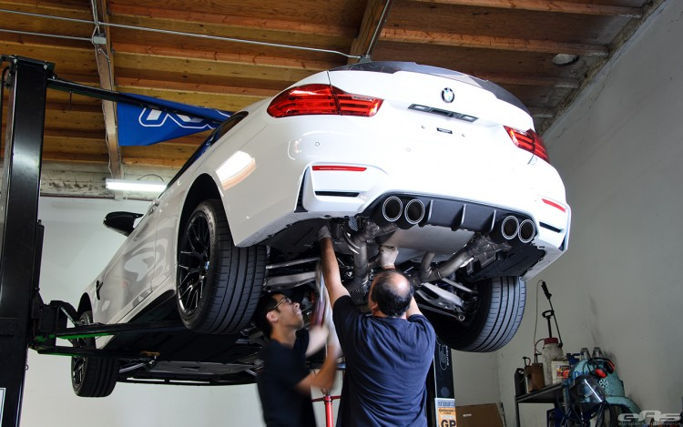 Remus Exhaust System Installed On An Alpine White M4 Image 5 750x469