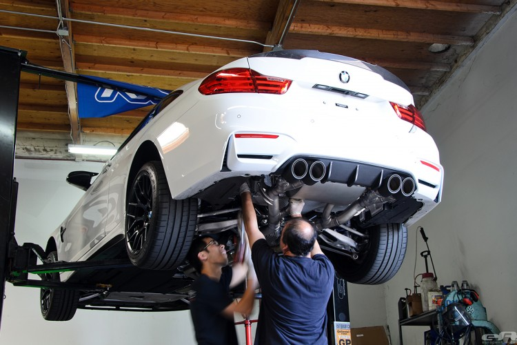 Remus Exhaust System Installed On An Alpine White M4 Image 5 750x500