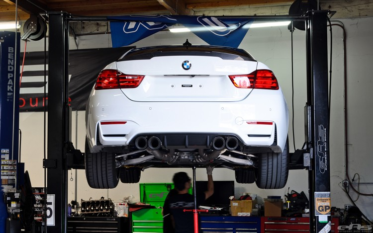 Remus Exhaust System Installed On An Alpine White M4 Image 6