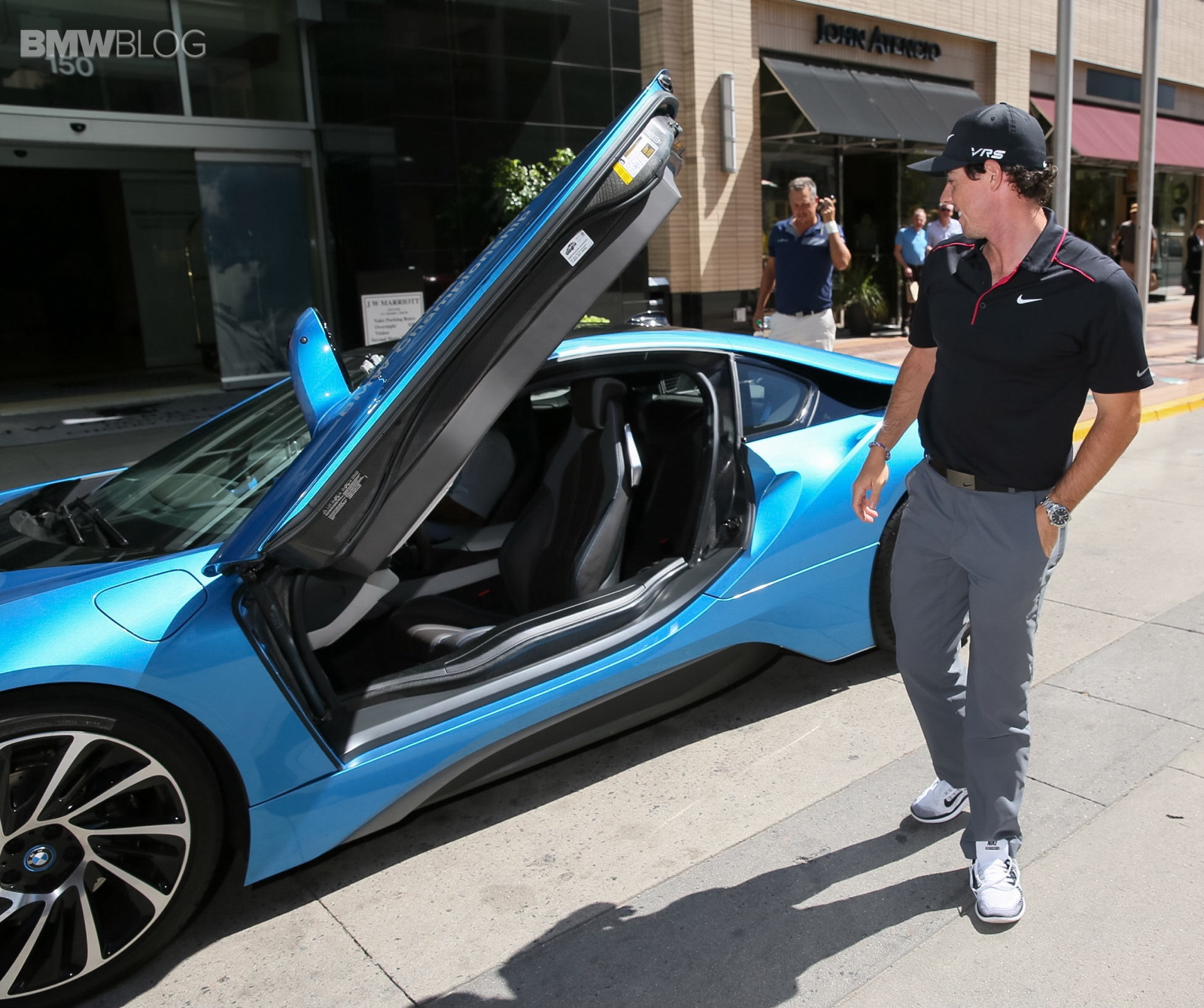 Golf Star Rory McIlroy Takes The BMW I8 For A Ride