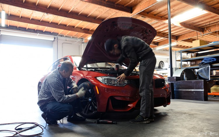 Sakhir Orange BMW F82 M4 In For Some Modifications At EAS Image 1 750x469