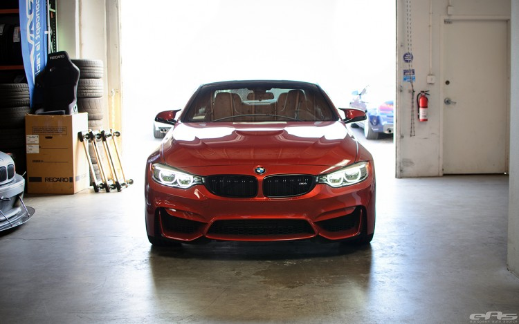 Sakhir Orange BMW F82 M4 In For Some Modifications At EAS