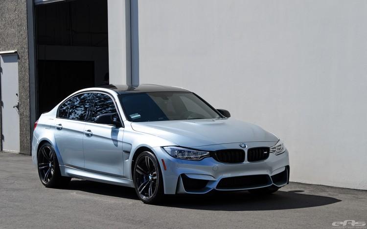 Silverstone Metallic BMW F80 M3 Gets M Performance Parts At EAS 21 750x469