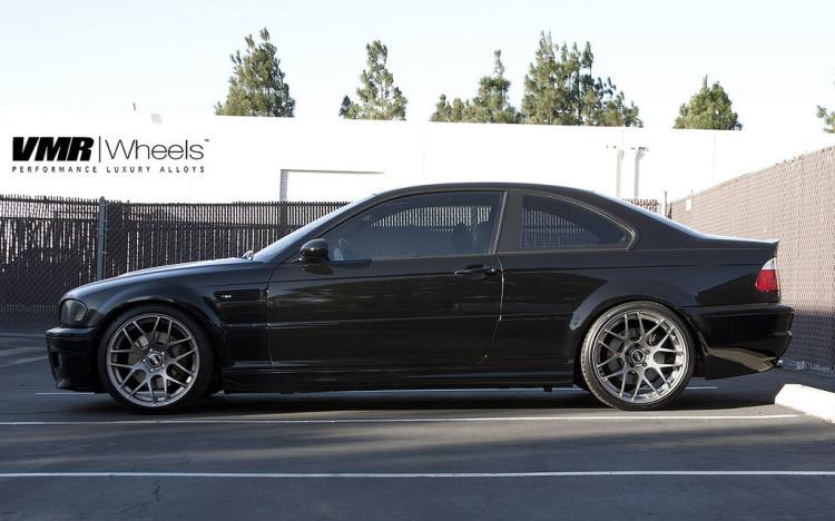 Sparkling Graphite BMW E46 M3 With VMR Wheels