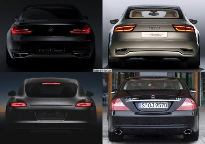 Vergleich BMW Gran Coupe Audi Sportback Porsche Panamera Mercedes CLS 3 655x461