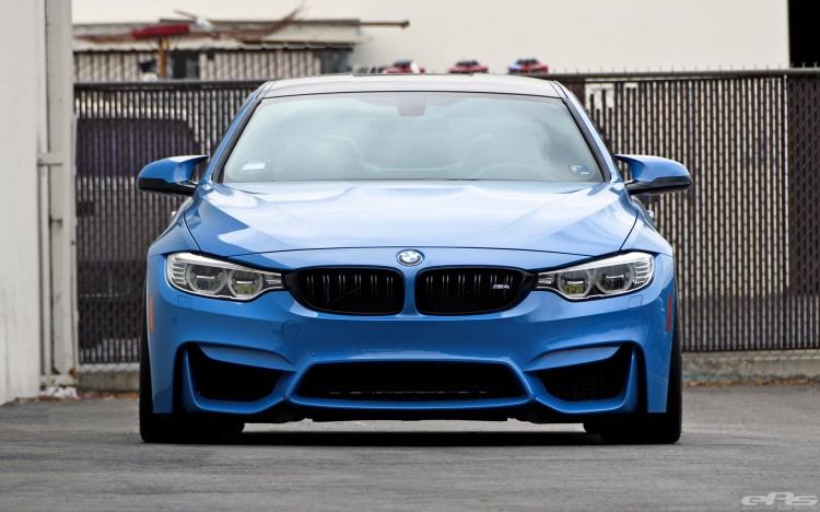 Yas Marina Blue BMW F82 M4 With Cosmetic Upgrades