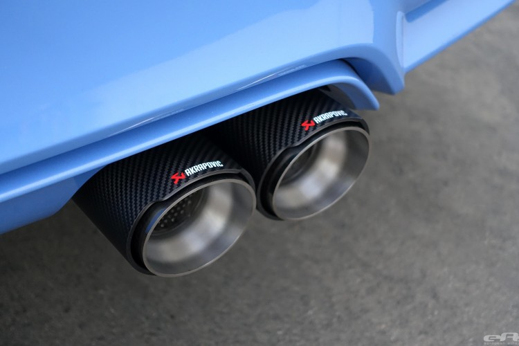 Yas Marina Blue BMW M4 Receives An Akrapovic Exhaust System 13 750x500