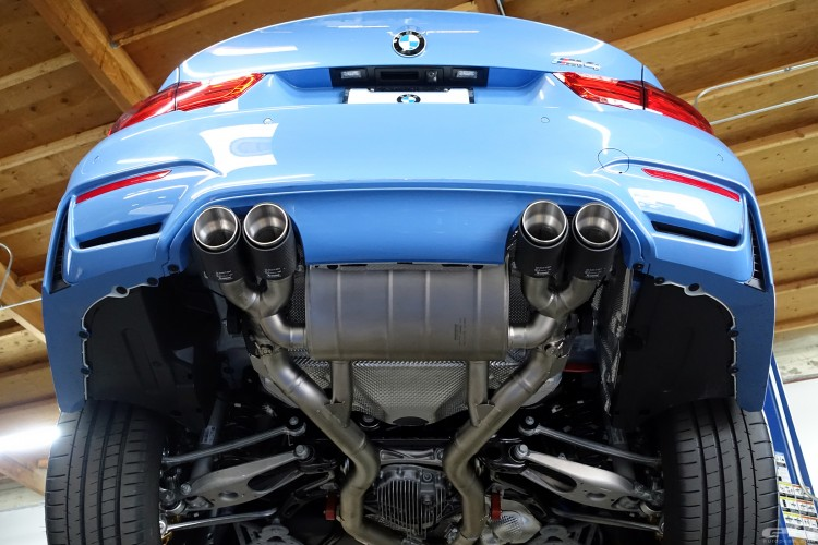 Yas Marina Blue BMW M4 Receives An Akrapovic Exhaust System 7 750x500