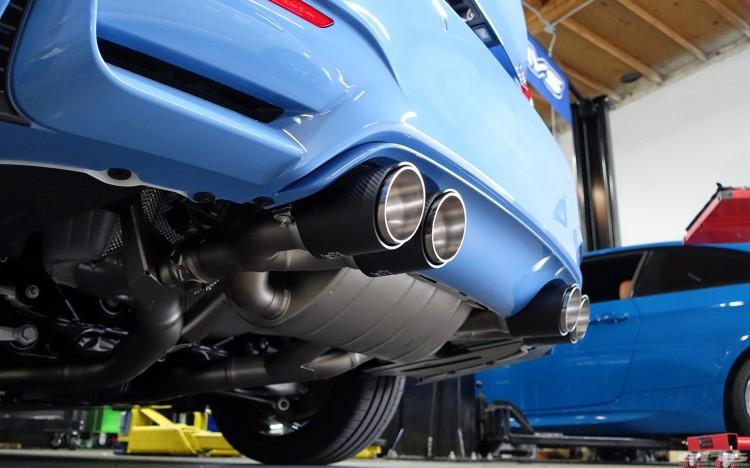 Yas Marina Blue BMW M4 Receives An Akrapovic Exhaust System 8 750x468