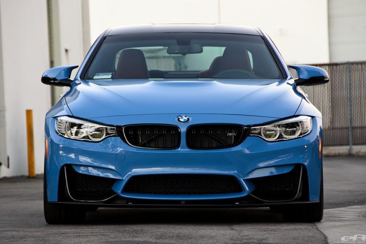 Yas Marina Blue BMW M4 With M-Performance Parts