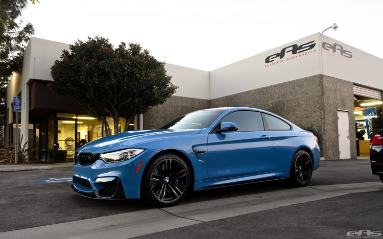 Yas Marina Blue BMW M4 With M-Performance Parts