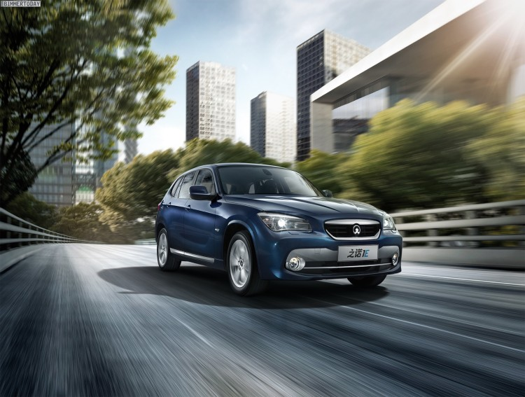 Zinoro 1E BMW X1 China Elektro SUV Guangzhou 2013 06 750x567