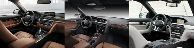 a BMW 3er Touring F31 Bild Vergleich Audi A4 Avant Mercedes C Klasse T Modell 4 655x163