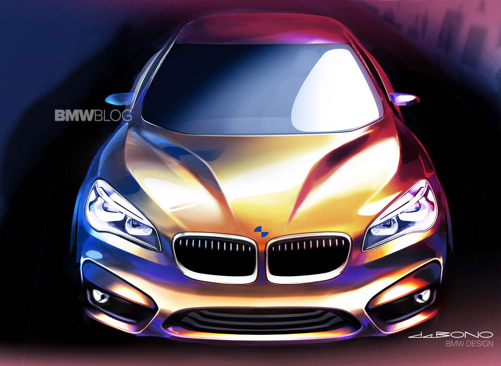 bmw 2 series active tourer sketches 6