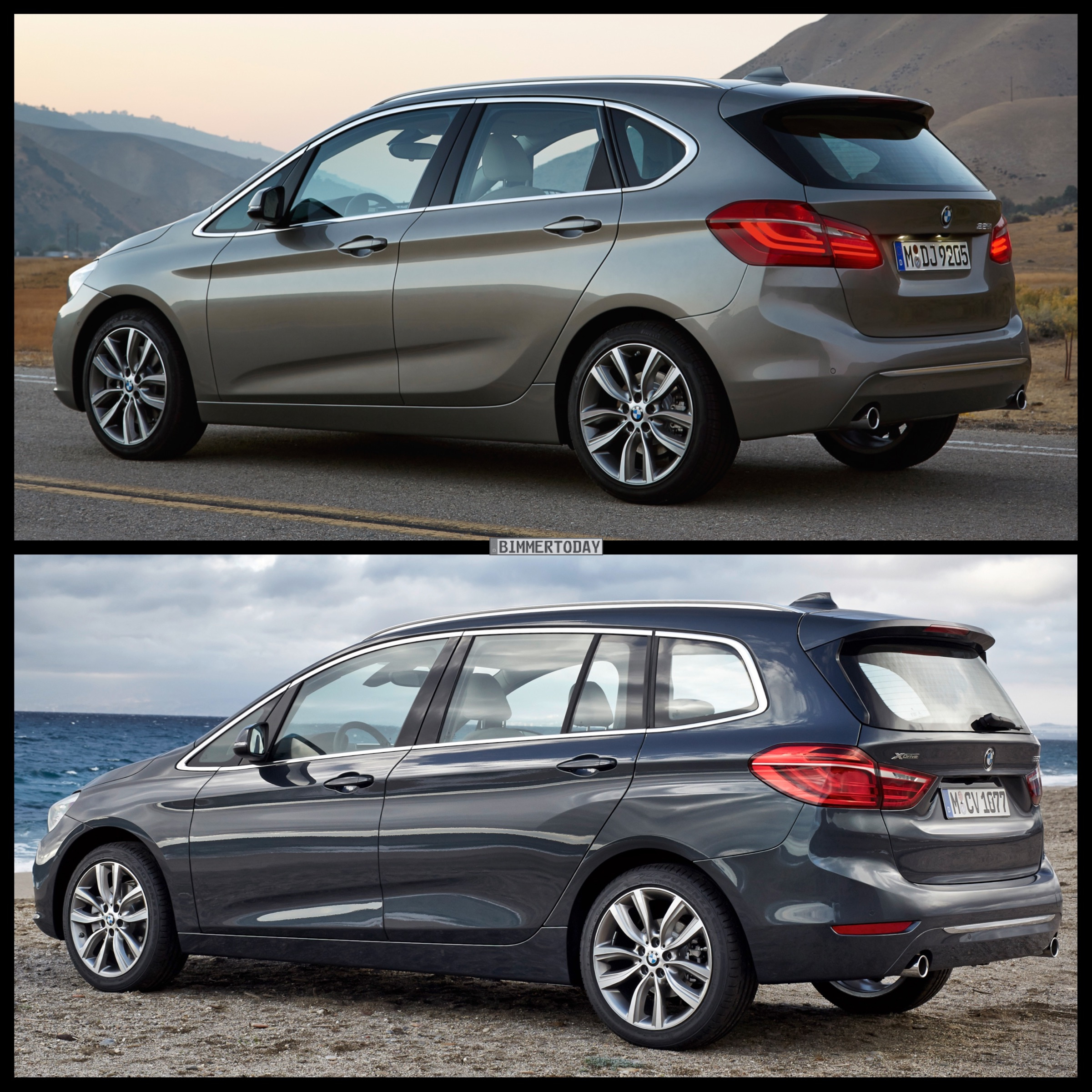 bmw 2 series gran tourer vs bmw 2 series active tourer photo comparison. Black Bedroom Furniture Sets. Home Design Ideas
